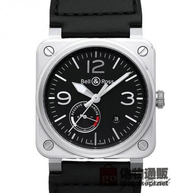 BELL&ROSS ベル&ロス 時計 BR03-97 パワーリザーブ【BR0397-BL-SI/SCA】 BR03-97 Po
