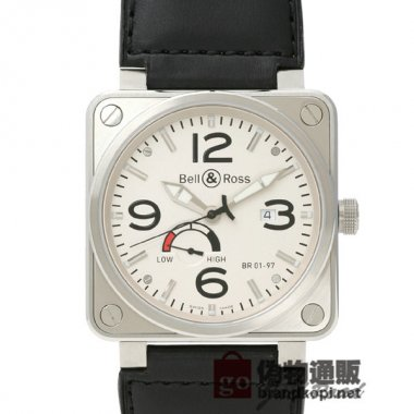 BELL&ROSS ベル&ロス 時計 BR01-97 パワーリザーブ【BR01-97W-CA】 BR01-97 Power R
